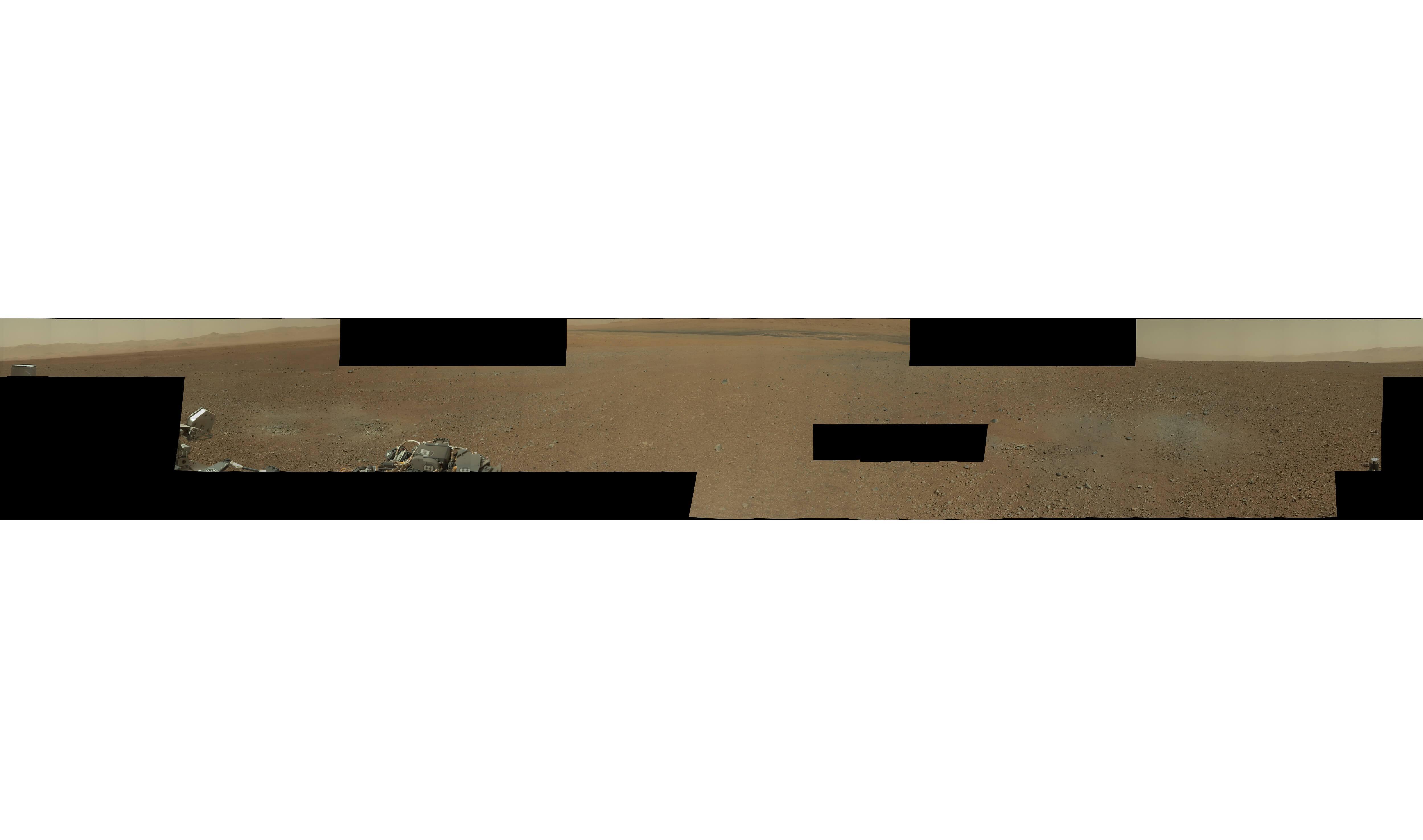 NASA好奇号火星360度全景照片