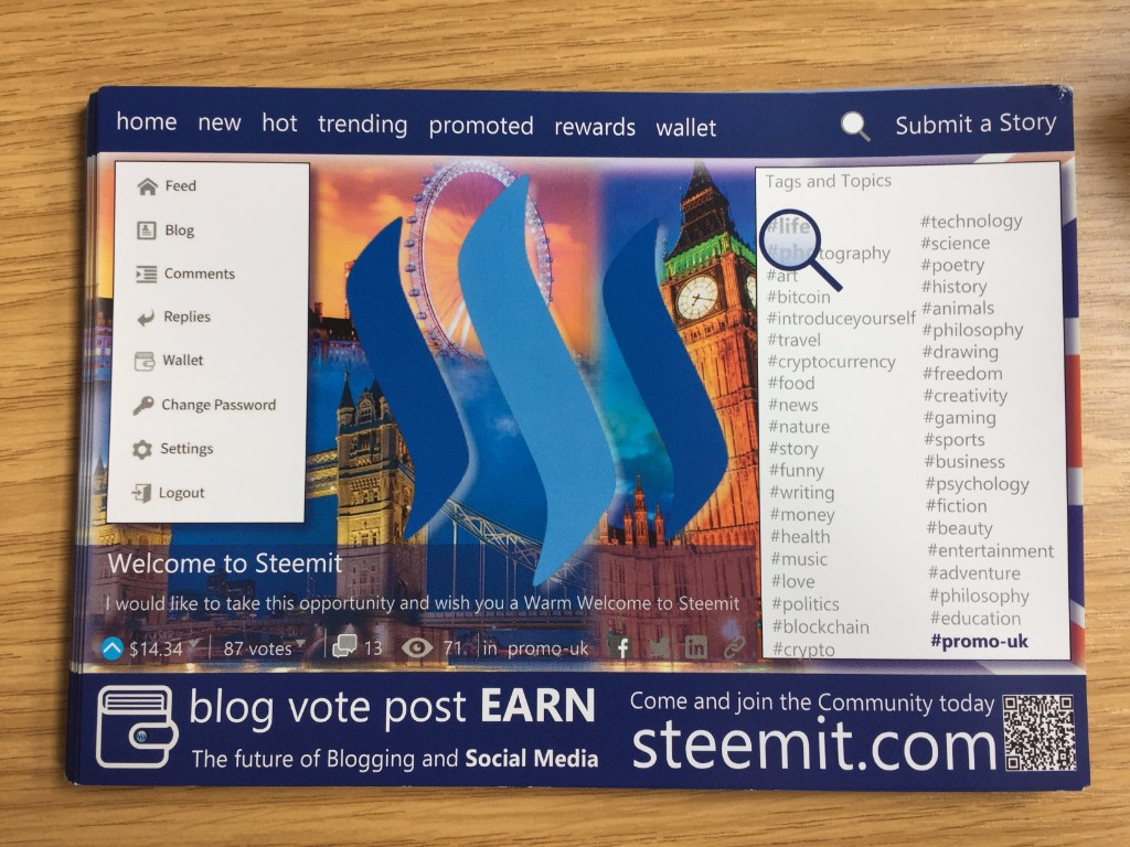 steemit uk promoting